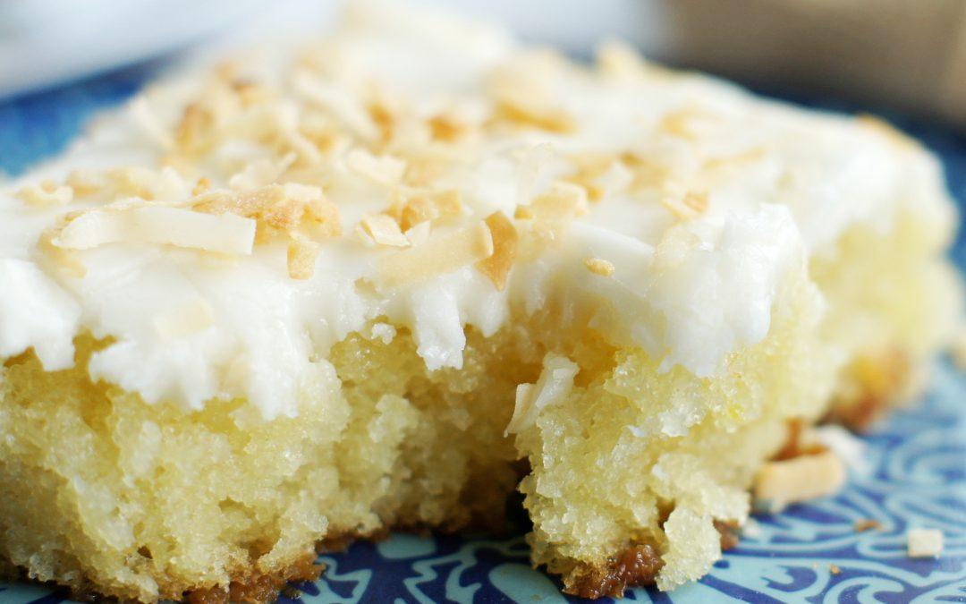 White Coconut Texas Sheet Cake