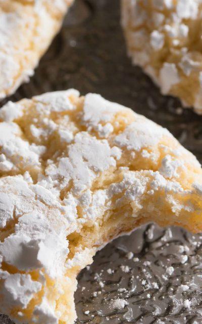 Vanilla Sugar Crinkle Cookies