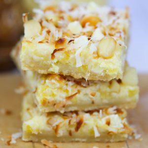 Hawaiian Pineapple Cheesecake Bars